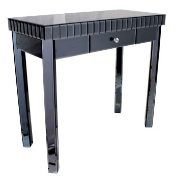 Mirrored Console Table in Smoked Grey