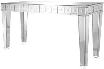 Bubbles Mirrored Console Table