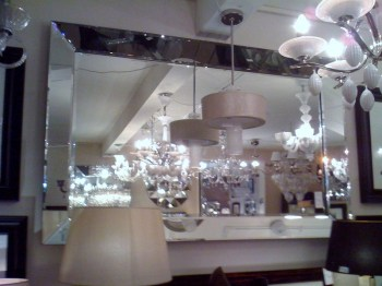 Venetian Tray Silver Bevelled Mirror Extra Large 190cm  x 130cm