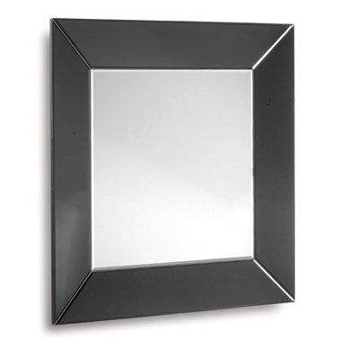 Venetian Tray Black Bevelled Mirror 36