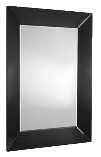 Venetian Tray Black Bevelled Mirror 48