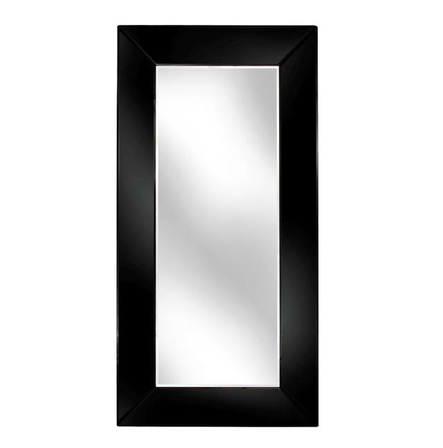 Venetian Tray Black Bevelled Box Mirror 60