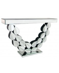 Petals Mirrored Console Table