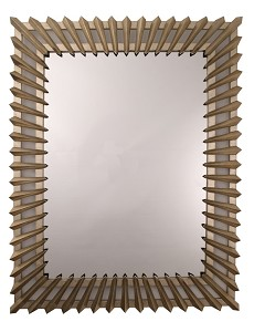 Ripple champagne Gold Framed Mirror 101cm