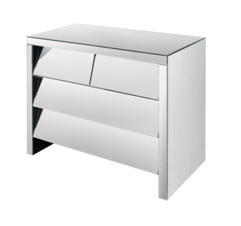 Linley 4 Draw slanted chest Mirrored plinth