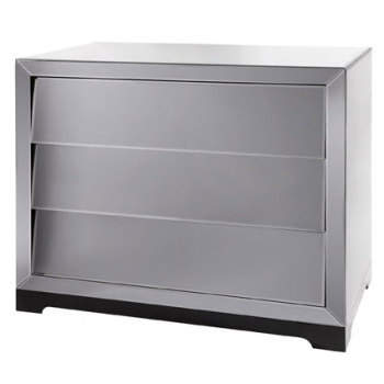 Alfa 3 Draw slanted Venetian Mirrored chest large