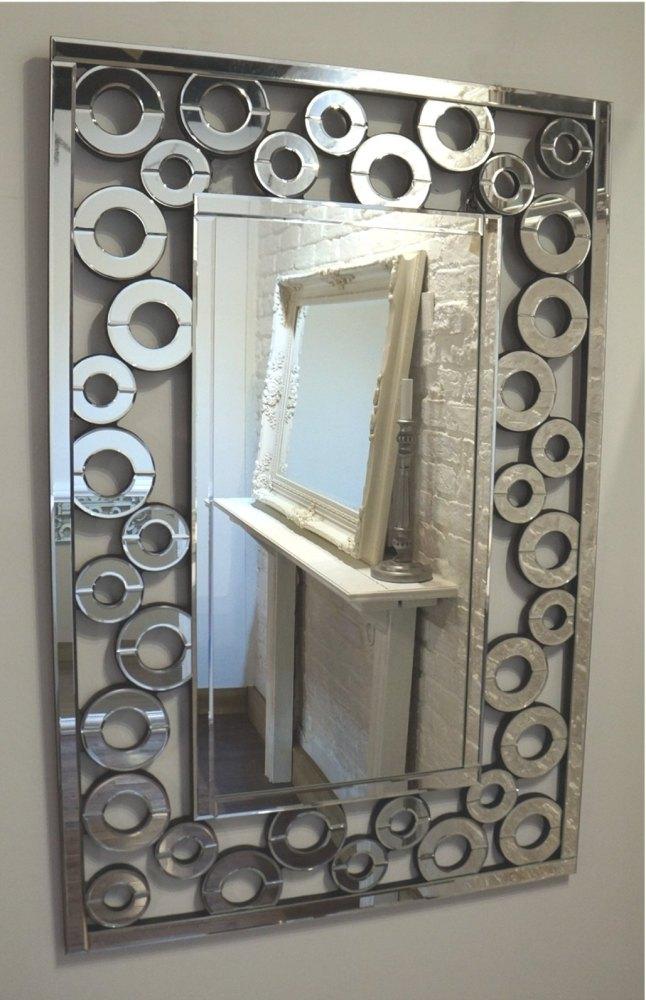Multi Facet Squares Bevelled Mirror 120cm x 80cm