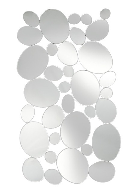 Multi Facet Circles Bevelled Mirror 150cm x 80cm