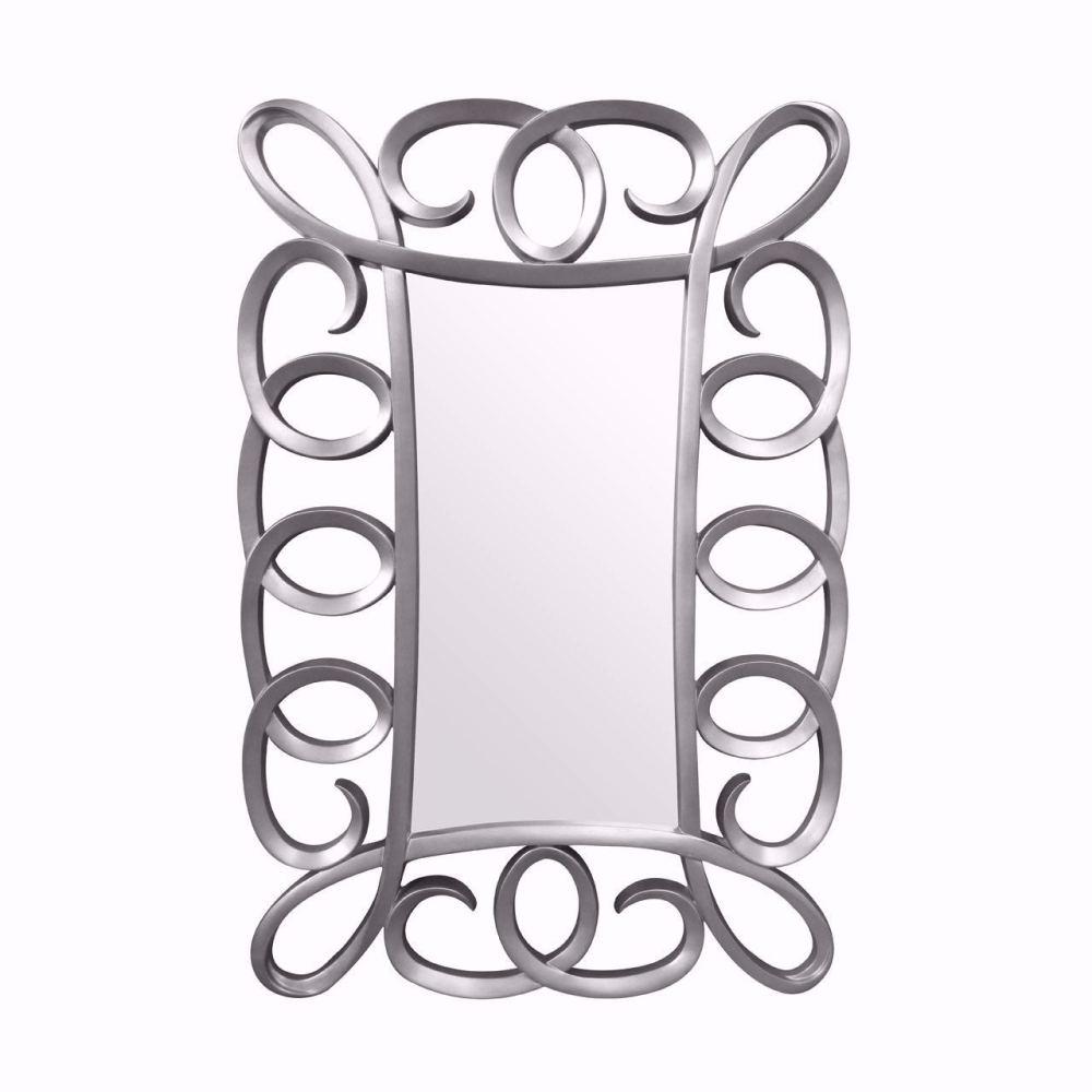 Belize Silver Framed Mirror