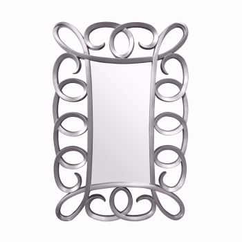 Bari Silver Framed Mirror