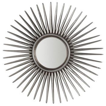 Espri Round Spires Silver Framed Mirror