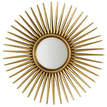 Espri Round Spires Gold Framed Mirror