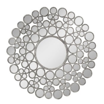 Leah framed Bevelled Mirror in Silver