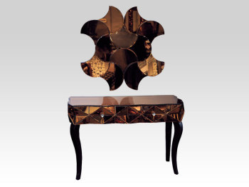 Bronze Console Table + Bronze Mirror