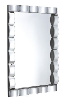 Mirrored Curved Wall Mirror