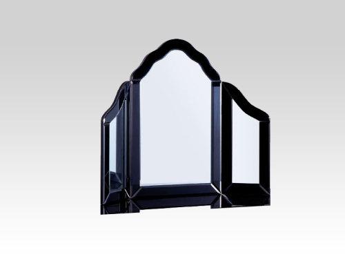 Mirrored Black Tri Fold Mirror