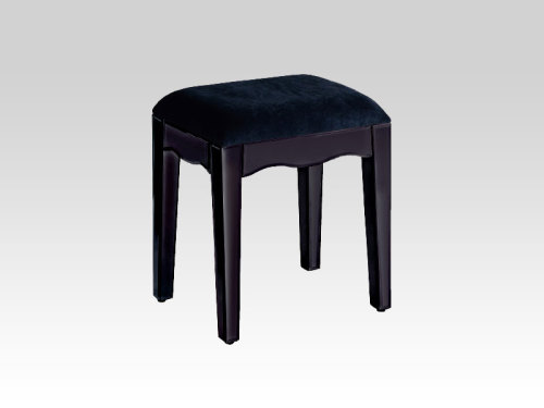 Mirrored Black Stool