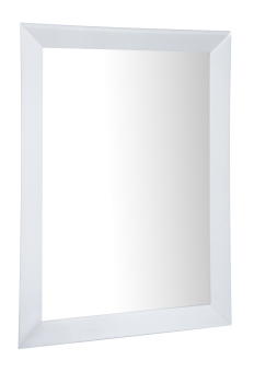 "Mirrored White Bevelled Wall Mirror extra large 72"" x 42"""