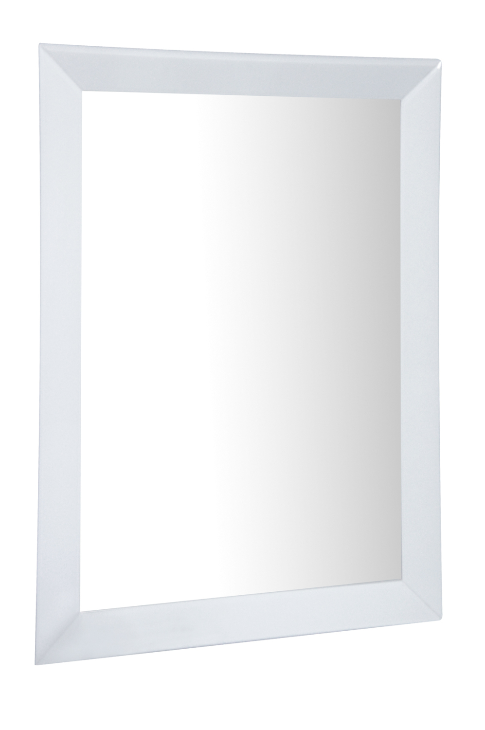 Mirrored White Bevelled Wall Mirror