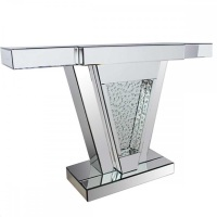Floating Crystals Mirrored Console Table 119cm