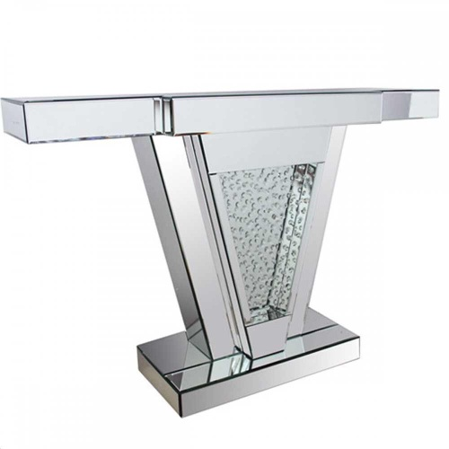 Floating Crystals Mirrored Console Table 118cm x 33cm x 79cm