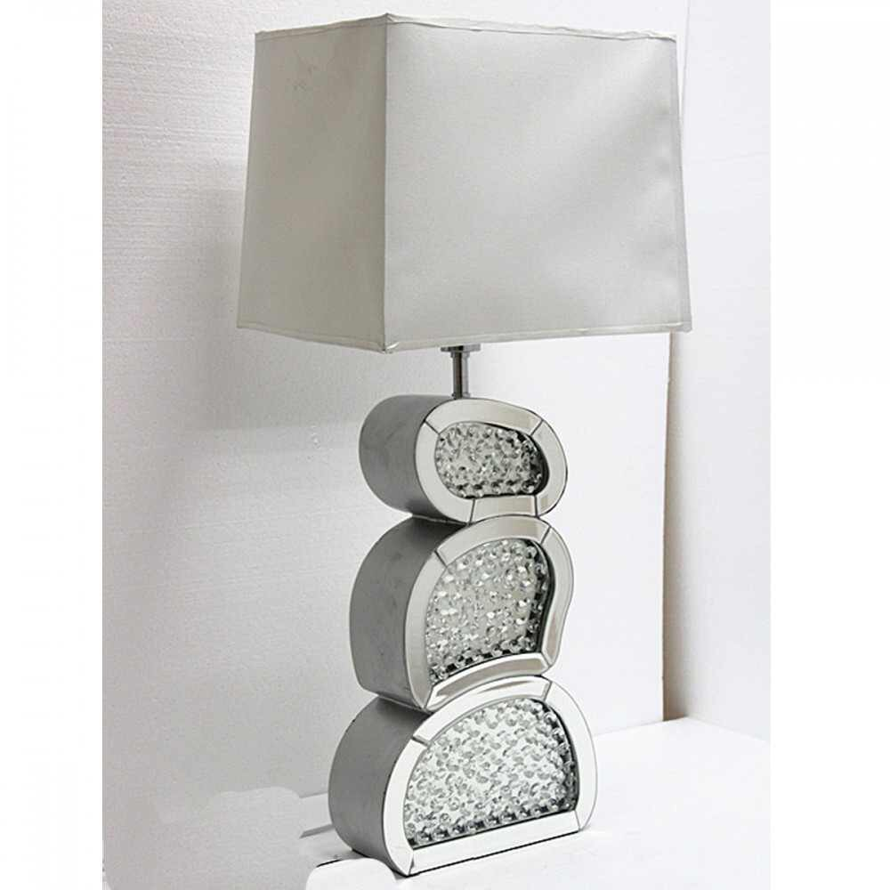 Mirrored table lamps and lounge lamps floating crystals mirrored table lamp 84cm geotapseo Images