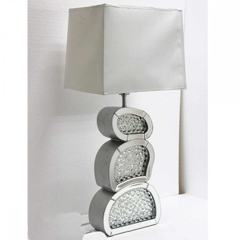 Floating Crystals Mirrored Table Lamp 84cm