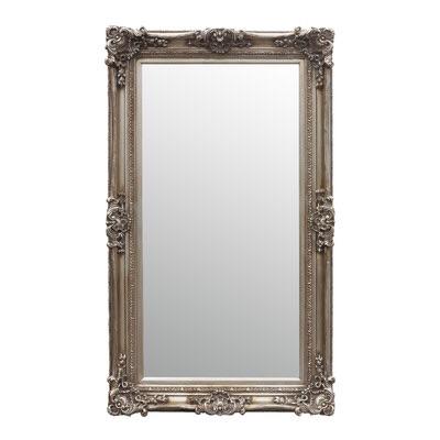 Rococo Core Silver Slim Bevelled Mirror