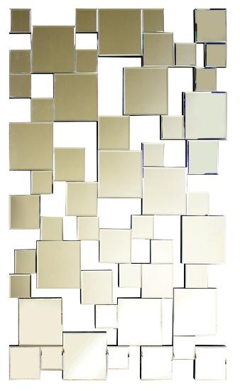 Multi Squares Bevelled Mirror 150cm x 80cm