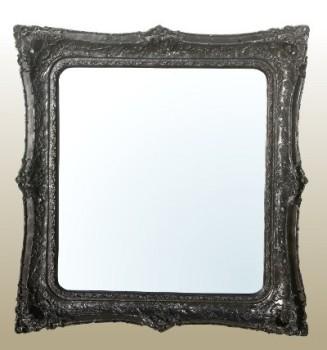 Rococo Ricci Black Shaped Bevelled Mirror 155cm x 167cm