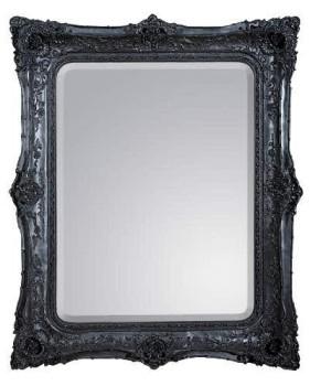 Rococo Ricci Black Shaped Bevelled Mirror 135cm x 164cm