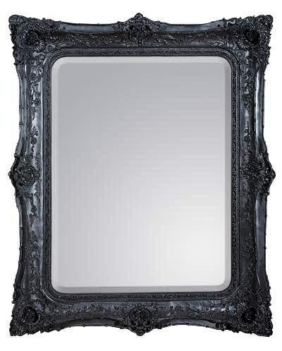Rococo Ricci Black Shaped Bevelled Mirror 134cm x 167cm