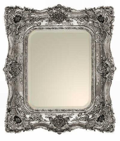 Rococo Ricci Silver Shaped Mirror 74cm x 84cm