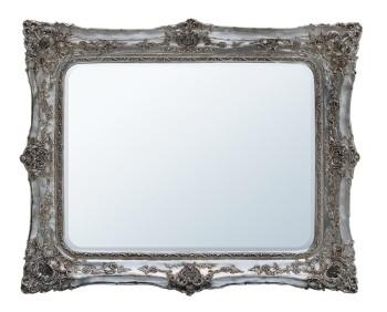 Rococo Ricci Silver Shaped Bevelled Mirror 134cm x 165cm