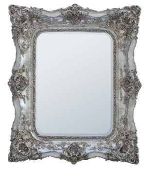 Rococo Ricci Silver Shaped Mirror 104cm x 124cm