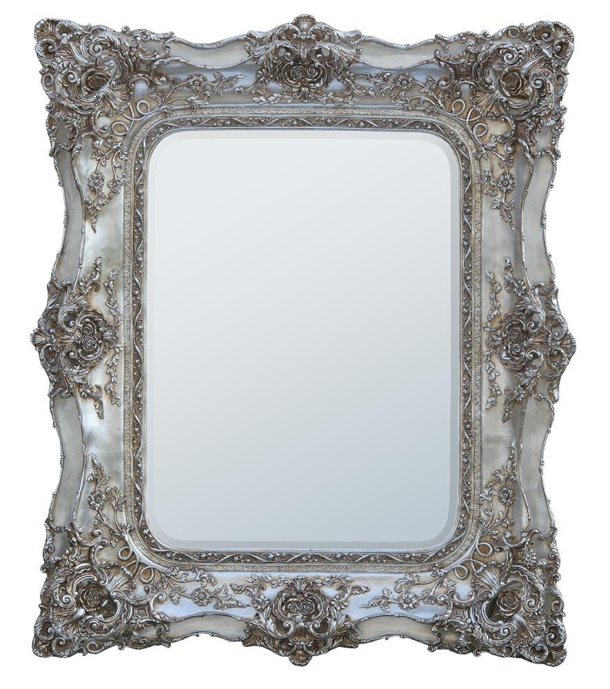Rococo Ricci Silver Shaped Mirror 104cm x 112cm