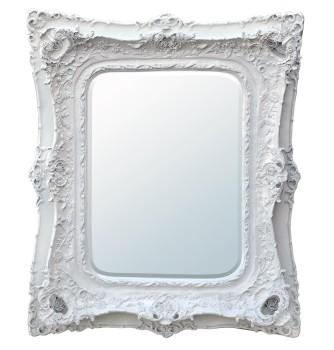 Rococo Ricci White Shaped Bevelled Mirror 104cm x 124cm