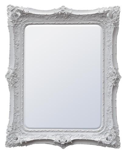 Rococo Ricci White shaped mirror