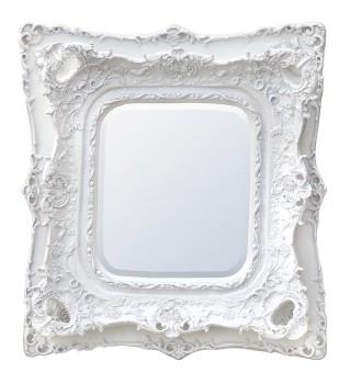 Rococo Ricci White Shaped Bevelled Mirror 102cm x 120cm