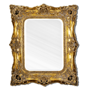 Rococo Ricci Gold Shaped Bevelled Mirror 104cm x 124cm