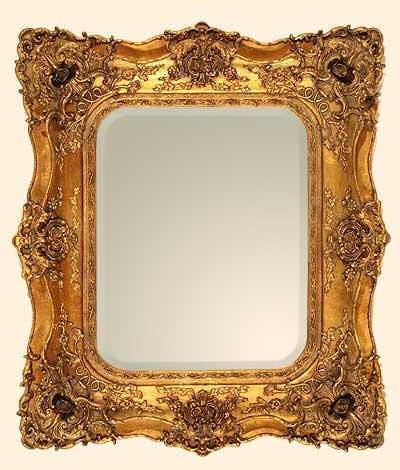 Rococo Ricci Gold Shaped Mirror 74cm x 84cm