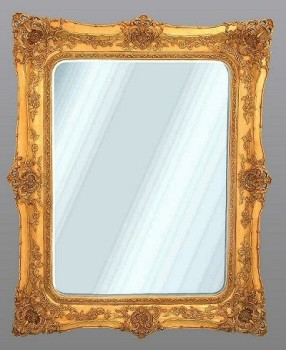 Rococo Ricci Gold Shaped Bevelled Mirror 135cm x 164cm