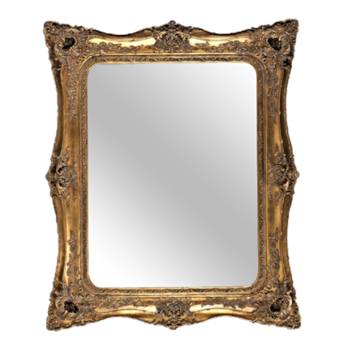 Rococo Ricci Gold Shaped Bevelled Mirror 155cm x 167cm