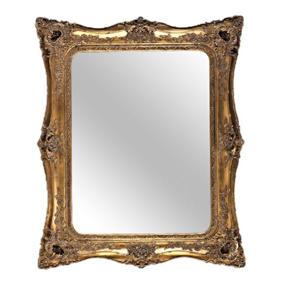 Rococo Ricci Gold Shaped Bevelled Mirror 155cm x 167cm