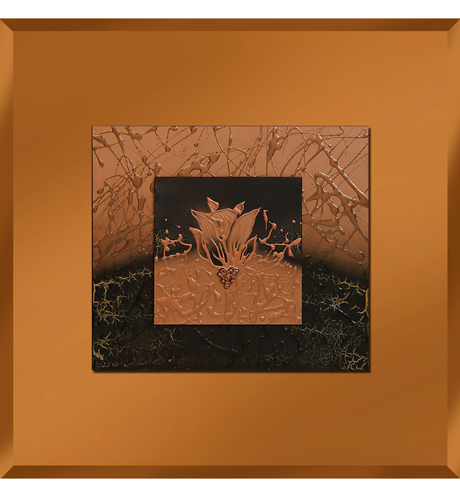 Abstract Bronze Mirrored Wall Art