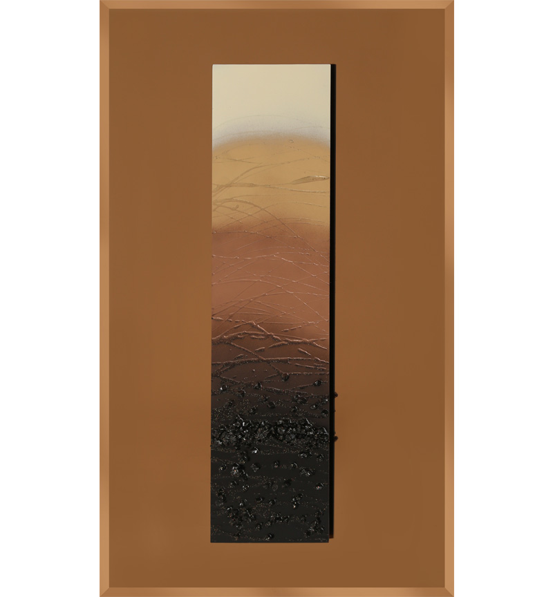 Abstract Bronze Mirrored Wall Art 75cm x 75cm