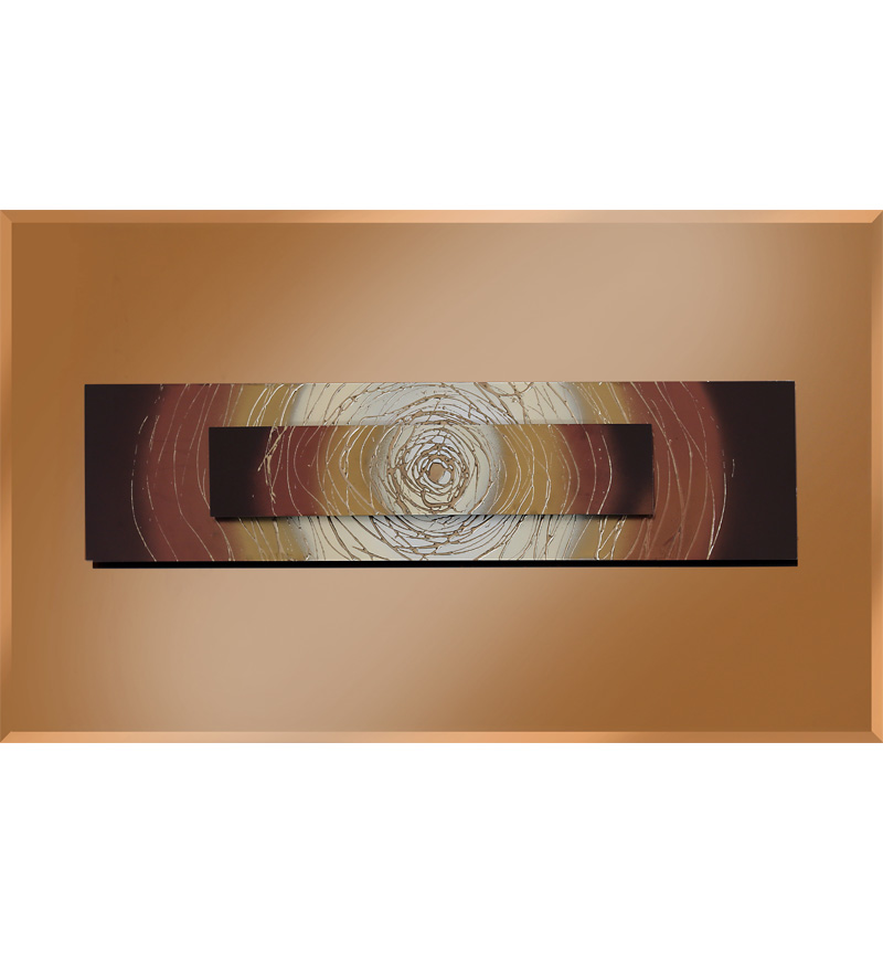 Abstract Bronze Mirrored Wall Art 2 sizes
