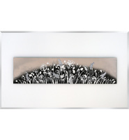 Abstract Art on a White Bevelled Mirror - 2 sizes
