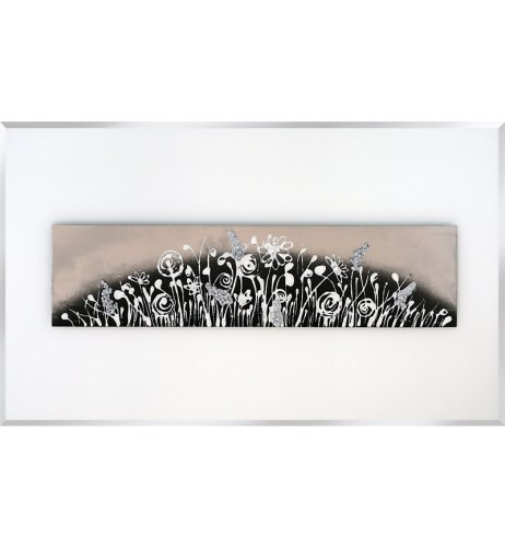 Abstract White Mirrored Wall Art 2 sizes