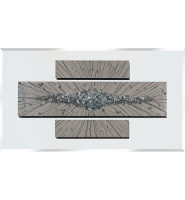 Abstract Silver Mirrored Wall Art Clusters 2 sizes